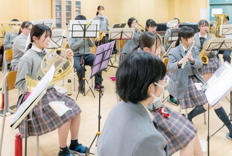 吹奏楽部の活動の様子