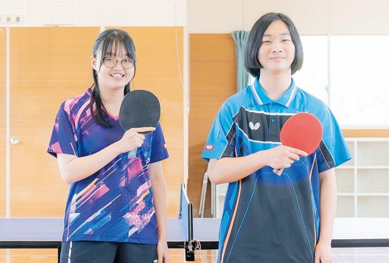 卓球部の活動の様子
